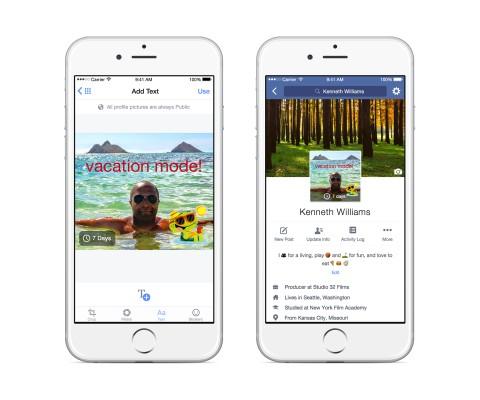 В Facebook можно будет загружать зацикленное видео вместо фото профиля
