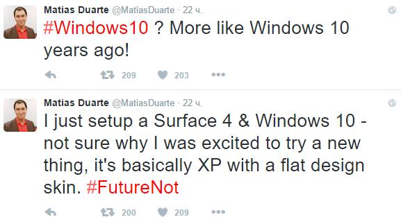 Главному дизайнеру Google непонравился внешний вид Windows10