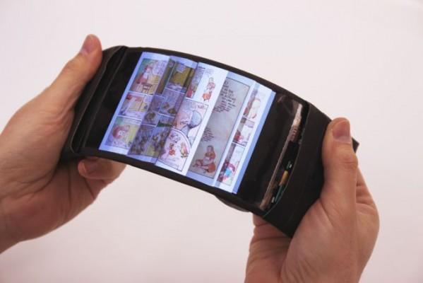 Показан прототип смартфона сгибким дисплеем