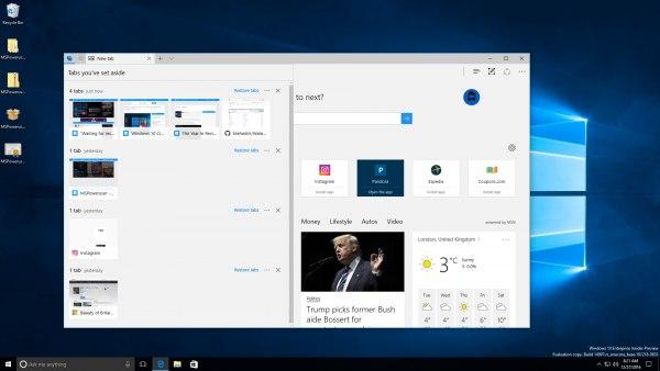 Компанию Microsoft выпустила превью-версиюОС Windows 10