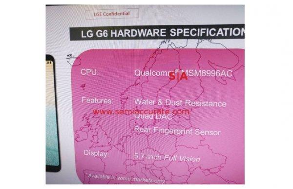 LGG6 получит процессор Snapdragon 821 ипорадует хорошим звуком внаушниках