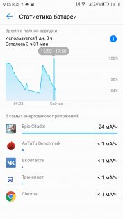 Обзор Huawei P10 — Аккумулятор. 6