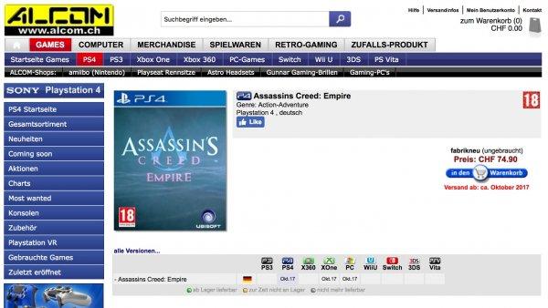 [Слухи] Новая Assassin's Creed выйдет ксередине осени