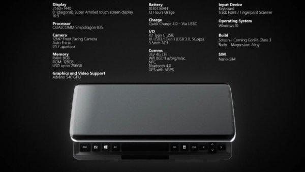 KS-PRO— прототип первого устройства наSnapdragon 835 иWindows 10