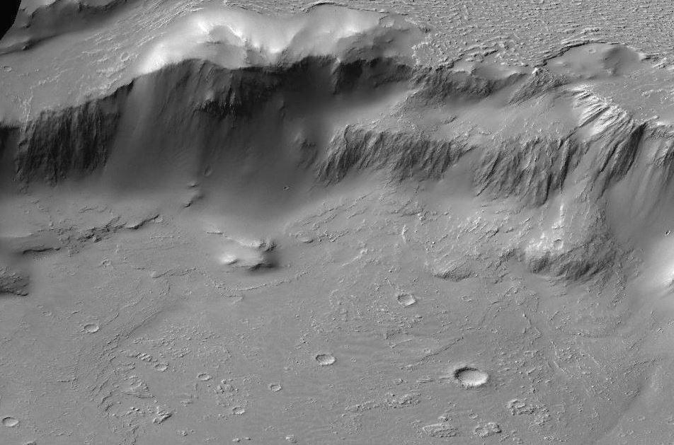 NASA показало марсианский Ниагарский водопад излавы