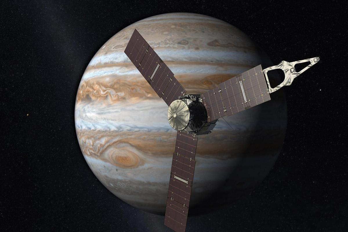 Ученые: Аппарат Juno покажет наЮпитере структуру наибольшего  вмире шторма