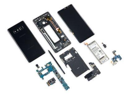 Galaxy Note 8 нелегко поддается ремонту