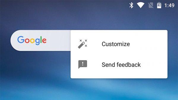 Приложение Google получит настраиваемый виджет поиска