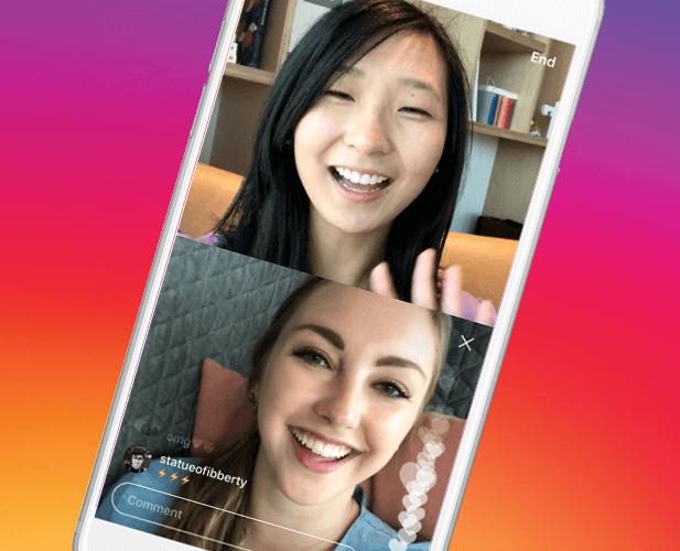 В социальная сеть Instagram возникла новая функция— общие трансляции