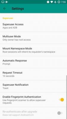Root-менеджер Magisk 15.3 получил поддержку сканера пальцев