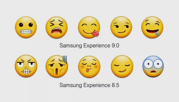 Samsung перерисовала эмодзи вAndroid Oreo длясвоих устройств