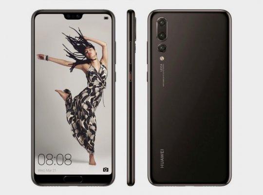 Huawei P20: официальные рендеры инеобычная градиентная расцветка