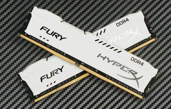 Пара белых: HyperX Fury DDR4-213332 Gb