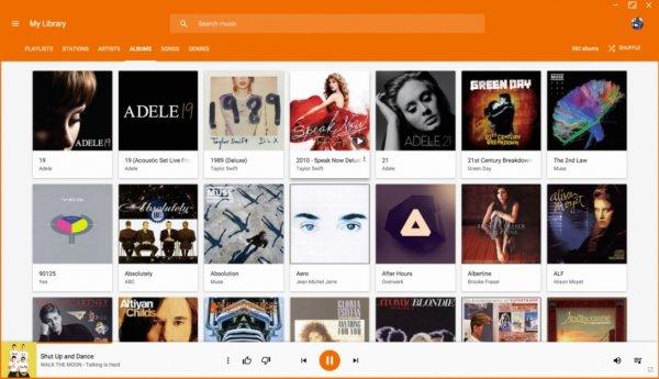 Плеер Play Music длякомпьютеров получил поддержку YouTube Music