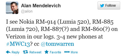 Nokia представит на MWC 2013 четыре смартфона, но без планшета