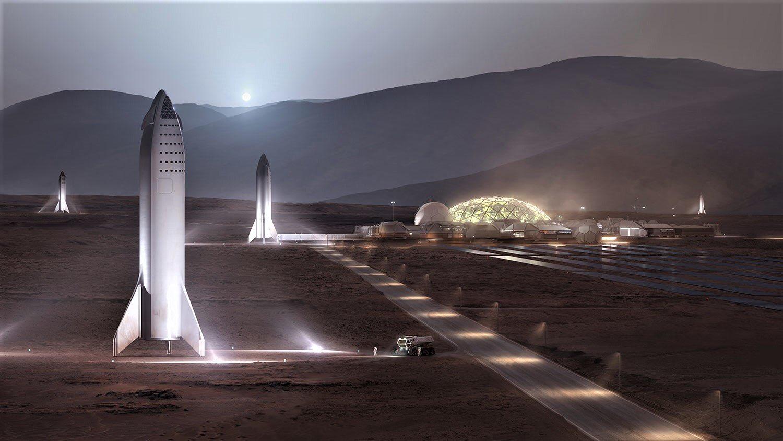 колония на Марсе, Илон Маск