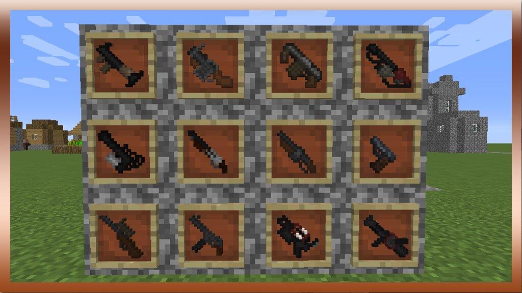 мод на оружие для майнкрафт 1.10.2 как у эмиральда #8