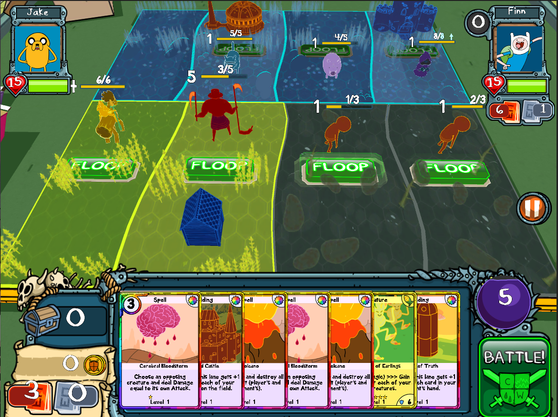 Скачать игру фин и джейк карточные войны.