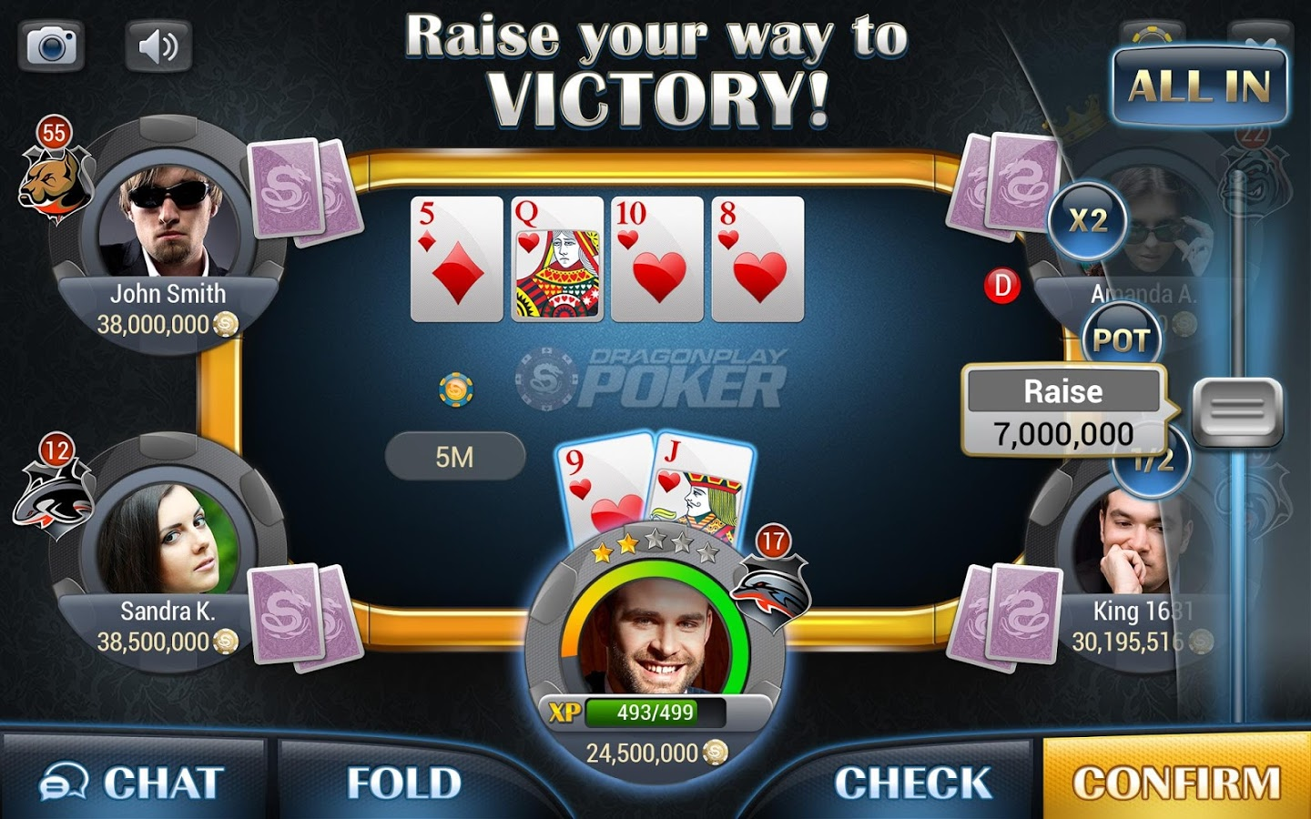 Dragonplay poker-texas holdem apk