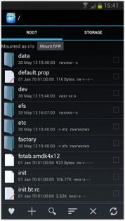 Root Explorer 4.1.7. Скриншот 1