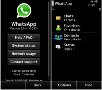 Whatsapp 2.16.9. Скриншот 1