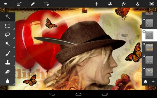 Adobe Photoshop Touch 1.7.7. Скриншот 1