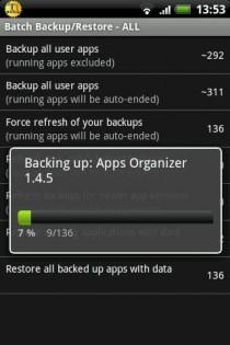 Titanium Backup 8.1.0. Скриншот 3