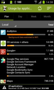3G Watchdog Pro - Data Usage 1.27.4. Скриншот 3