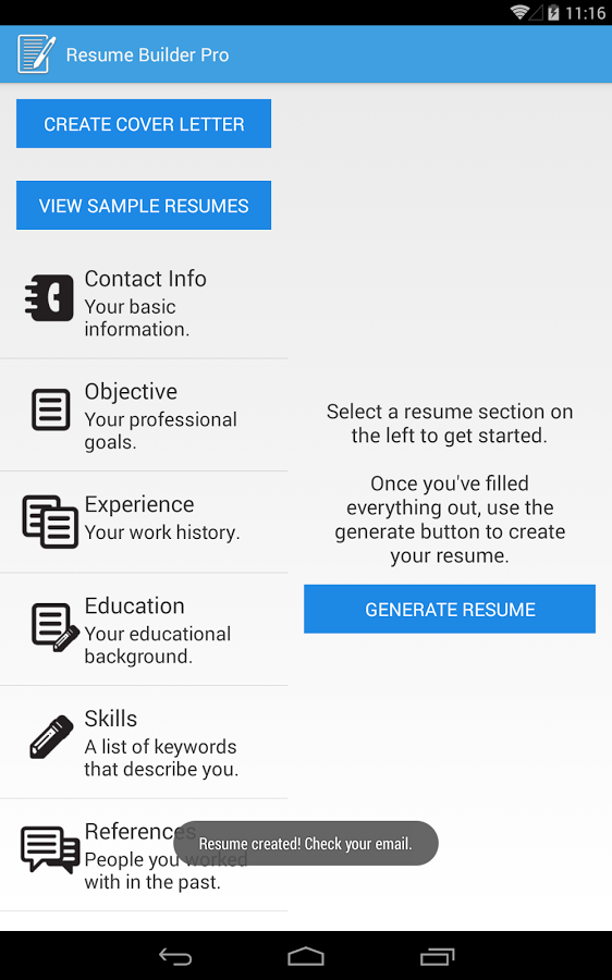 Resume Builder Pro 26 Android