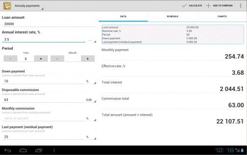 скачать кредитный калькулятор для андроид - фото 4