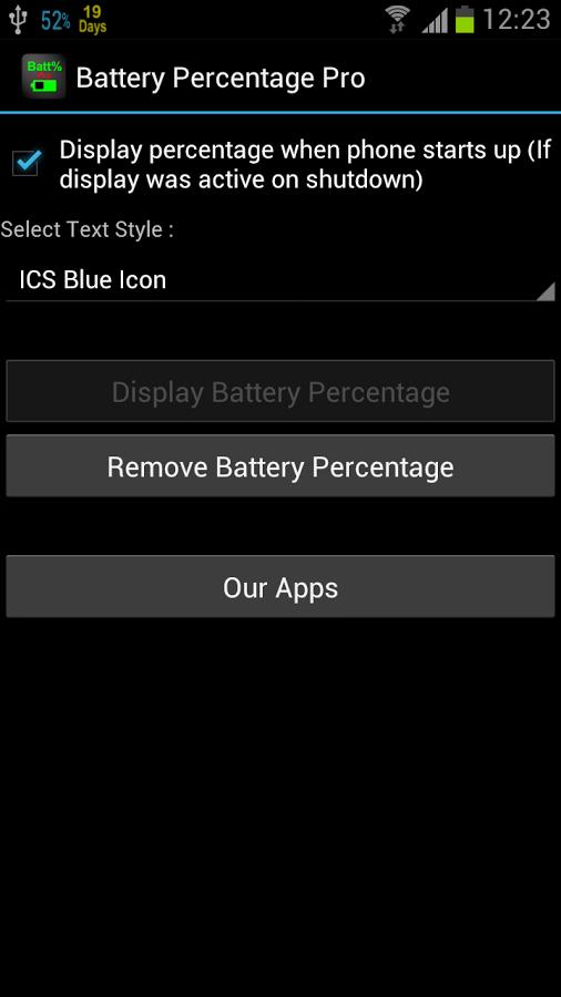 Андроид как сделать заряд батареи в процентах на 501