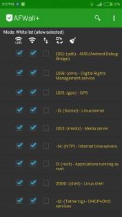 AFWall+ (Android Firewall +) 2.9.9. Скриншот 2