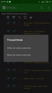 AFWall+ (Android Firewall +) 2.9.9. Скриншот 3