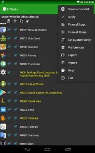 AFWall+ (Android Firewall +) 2.9.9. Скриншот 9