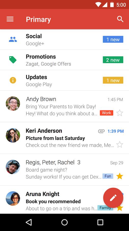 скачать gmail для андроид бесплатно