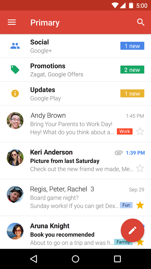 скачать gmail на андроид бесплатно