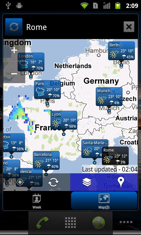 world weather glock widget версия 6.006