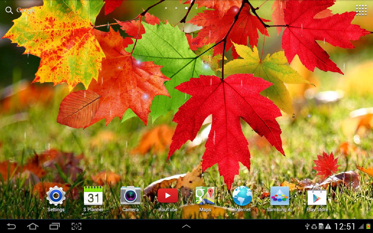 живые обои для андроид осень