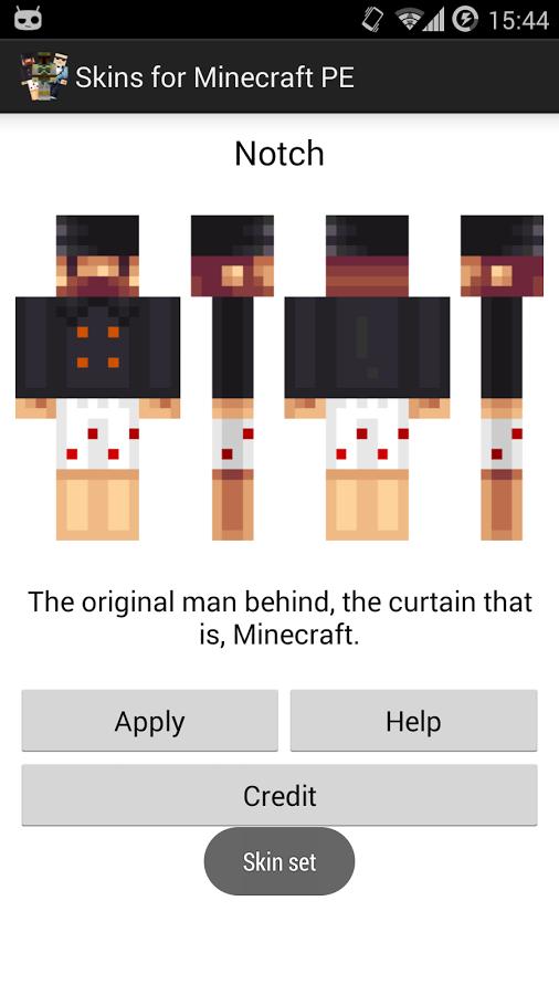 Skins for minecraft pe скачать приложение