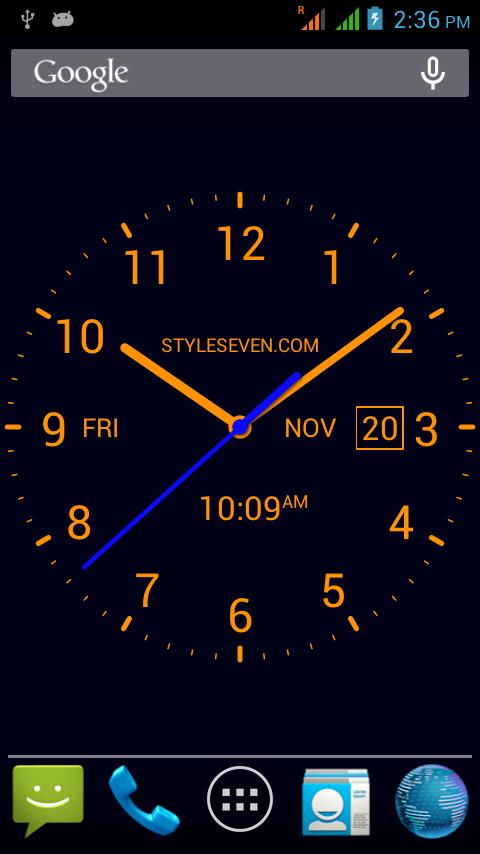 Скачать Analog Clock Live Wallpaper-7 2.3 для Android