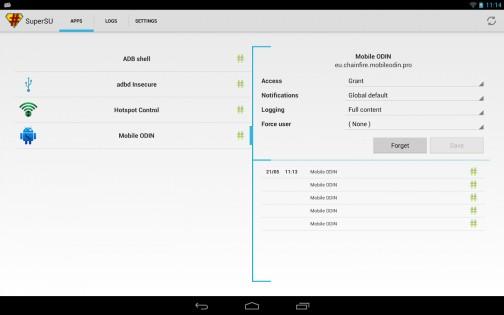 SuperSU 0.82. Скриншот 0