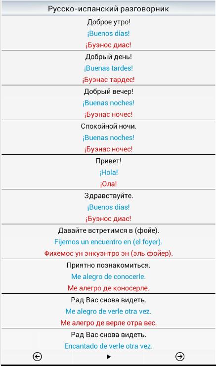 русско-испанский разговорник картинки