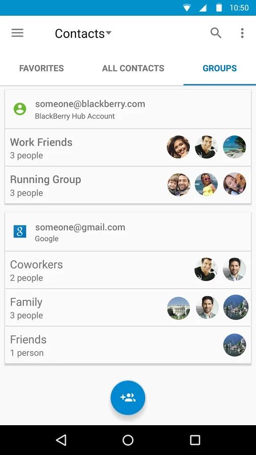 Связанные контакты на андроиде