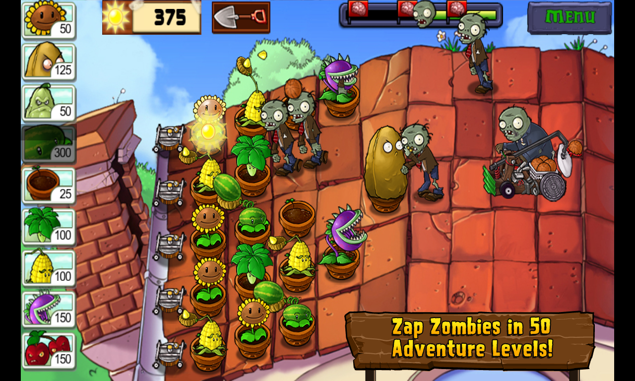 download game plants vs zombies cho android 2.3