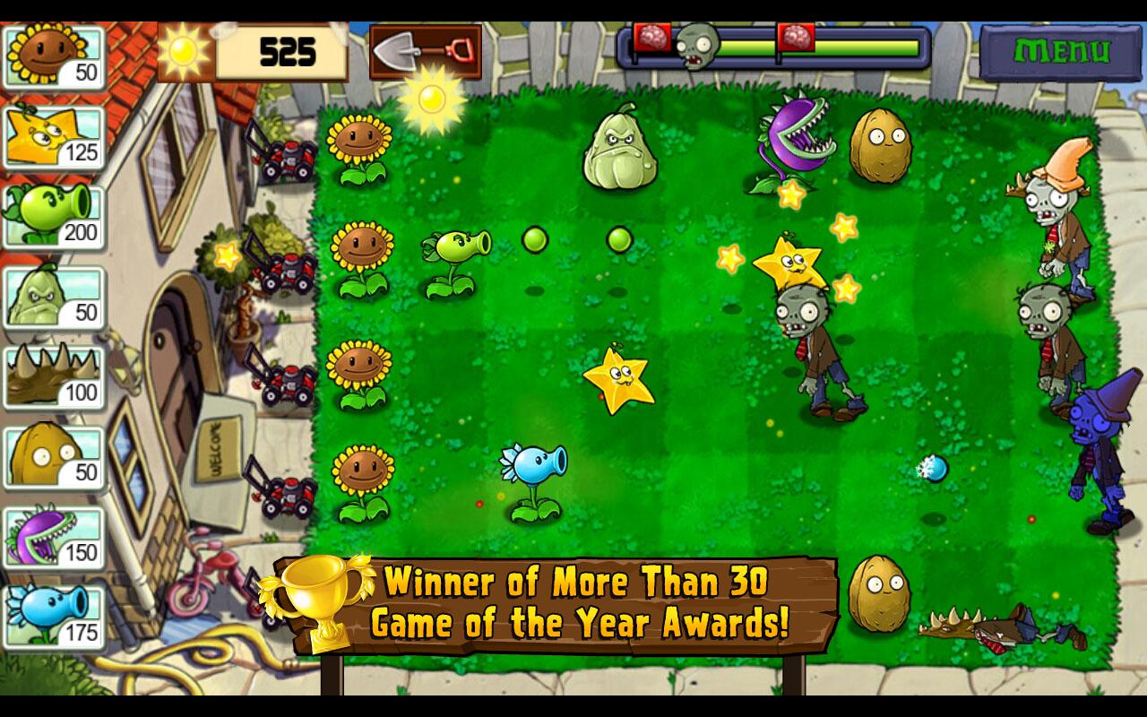 Скачать Plants vs Zombies на Android бесплатно