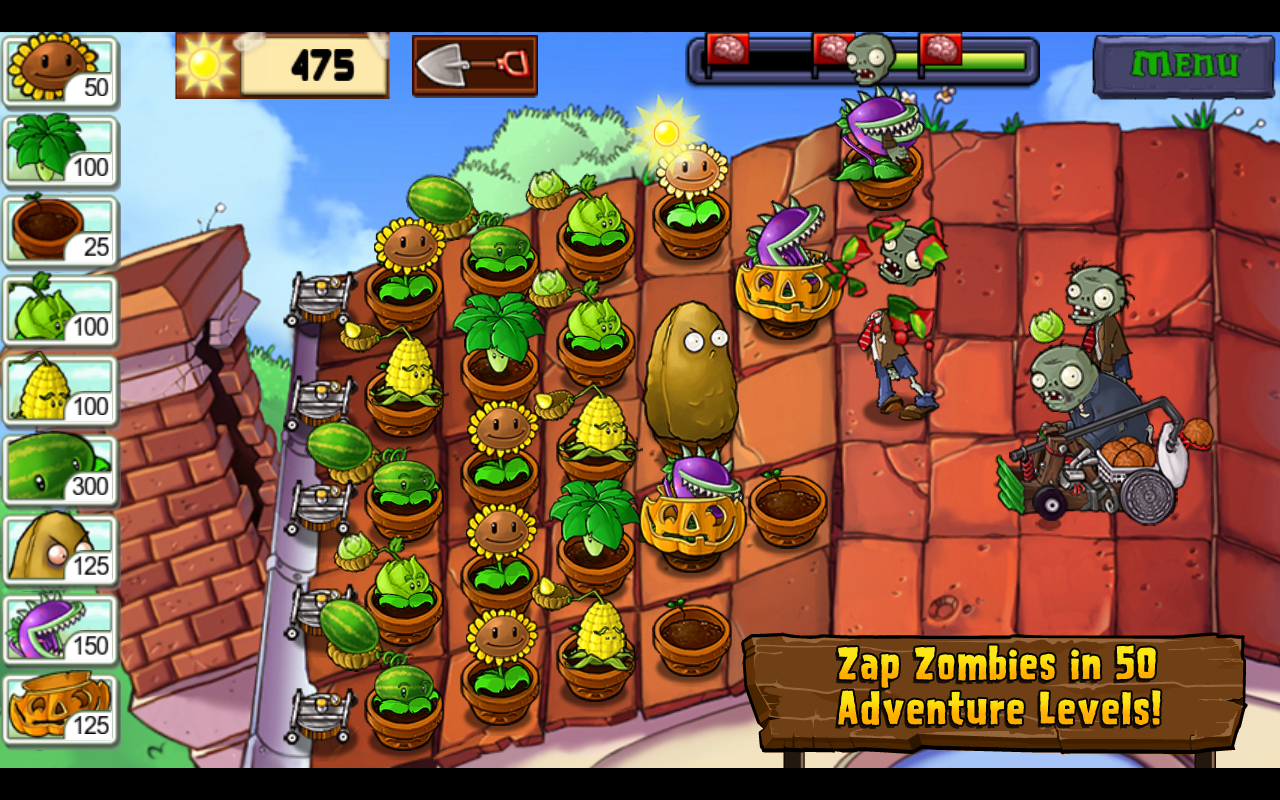 Plants vs. Zombies 2. Summer nights: strawburst для iphone cкачать.