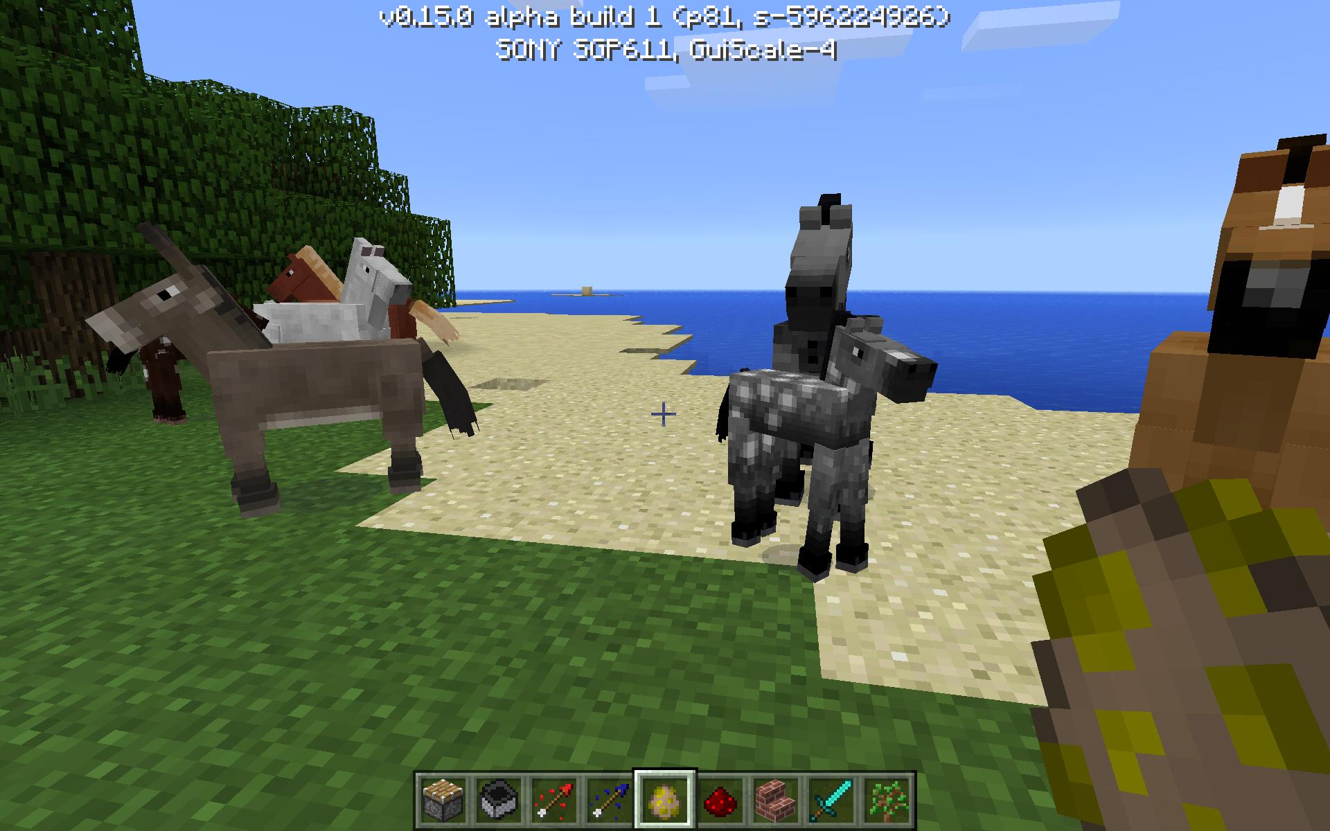 На какой версии майнкрафт есть лошади
