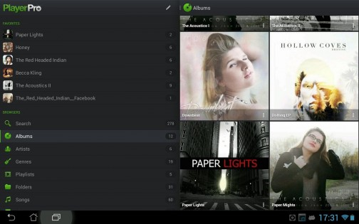 PlayerPro Music Player 0.3. Скриншот 00