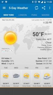 Weather & Clock Widget 5.9.3.4. Скриншот 5