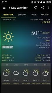 Weather & Clock Widget 5.9.3.4. Скриншот 6